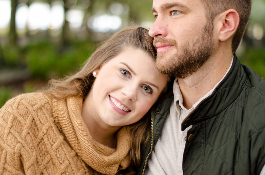 Engagement photography session at Waterfront Park in Downtown Charleston, SC