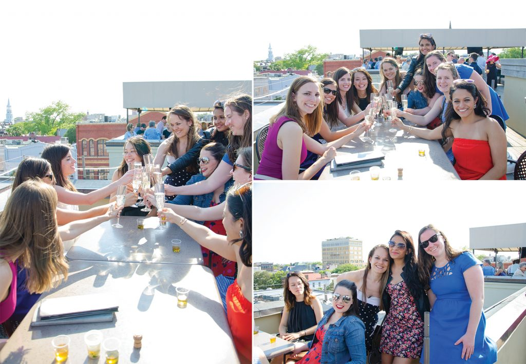 Bachelorette Weekend in Charleston toast at The Rooftop