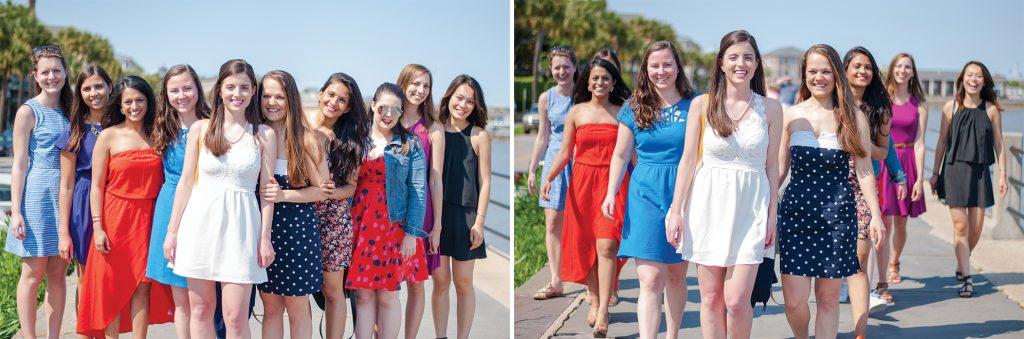 Bachelorette Weekend in Charleston White Point Gardens