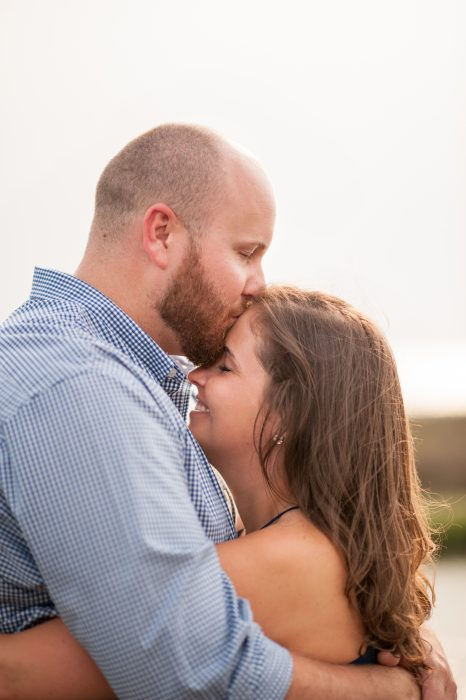 Engagement photos at Pitt Street Bridge in Mount Pleasant, SC