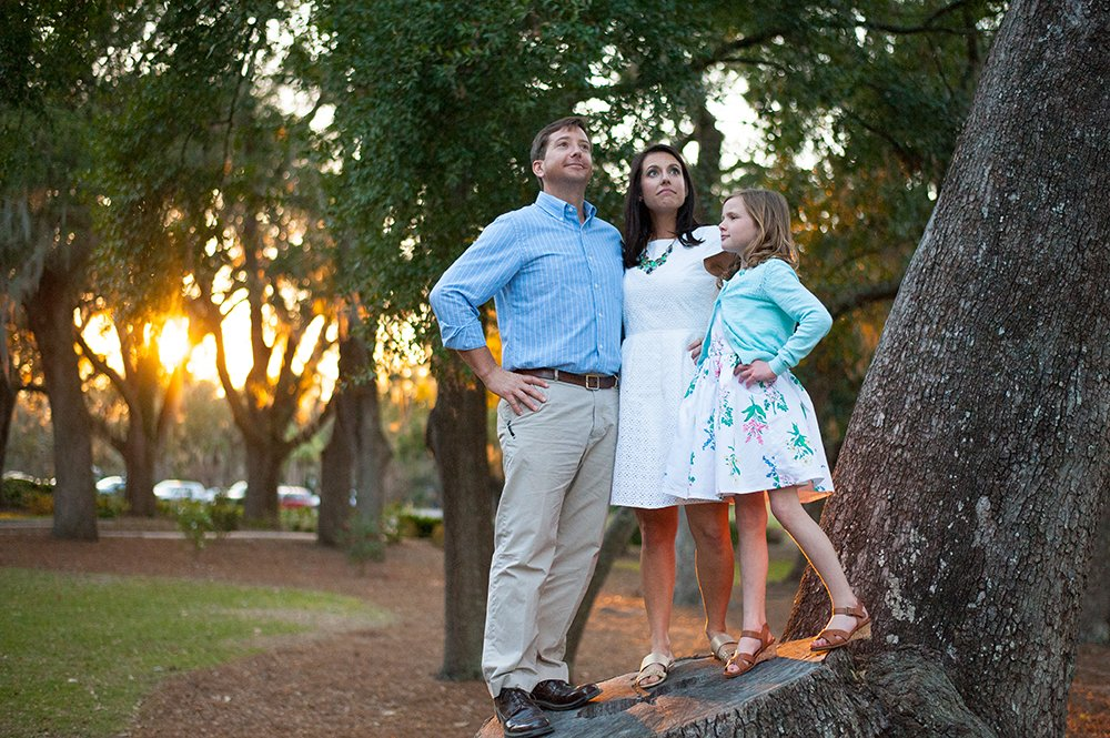 Charleston SC family photos Riverfront Park