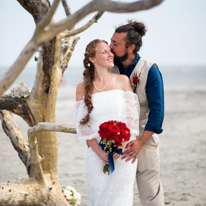 Wishing Tree Wedding at Folly Beach County Park | Chris + Morgan