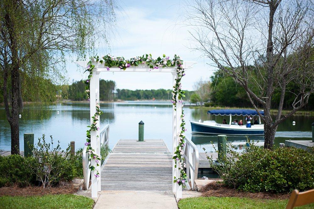 Hampton Lake Wedding ceremony spot by the lake in Bluffton, SC