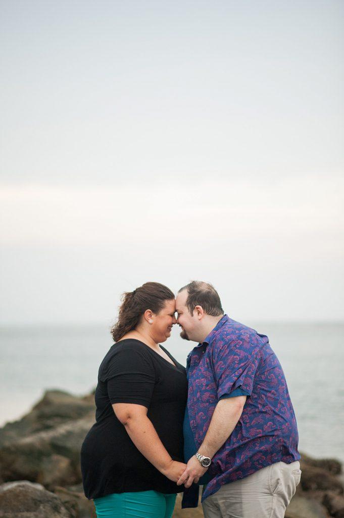 Sullivan's Island engagement photo beach session