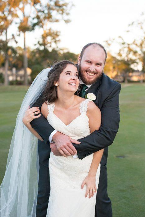 Bride and Groom portrait at Dataw Island Club Wedding near Beaufort, SC