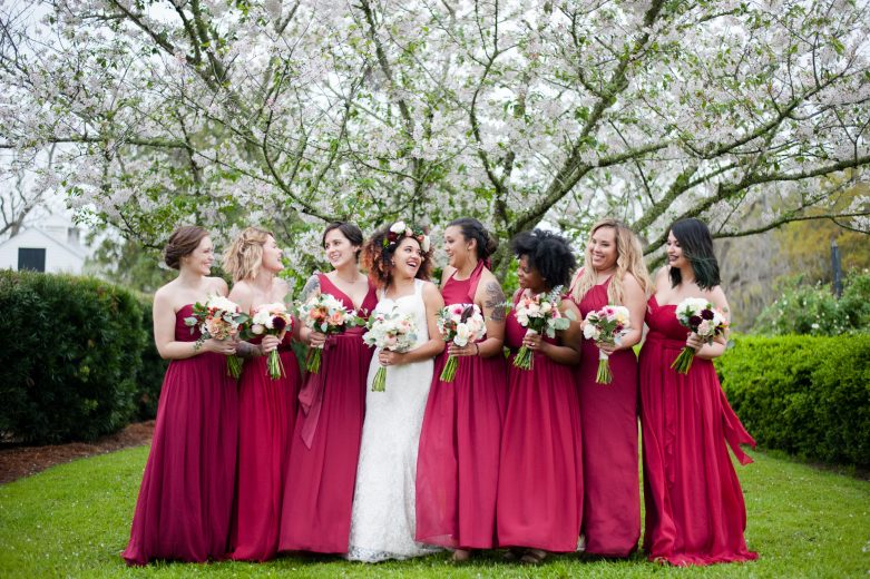 boon hall cotton dock wedding bridal party
