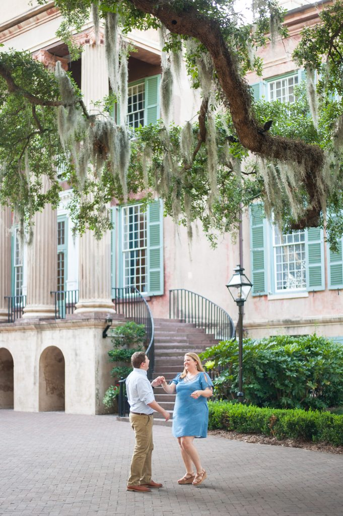 College of Charleston Engagement Photos