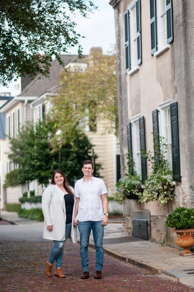Fall engagement session in Downtown Charleston, sc