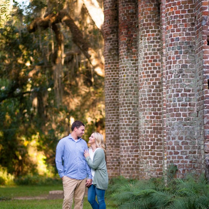 Britany + Bryton | Old Sheldon Church Ruins Engagement Session