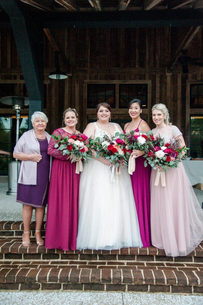 Pepper Plantation wedding in Charleston, SC bridal party