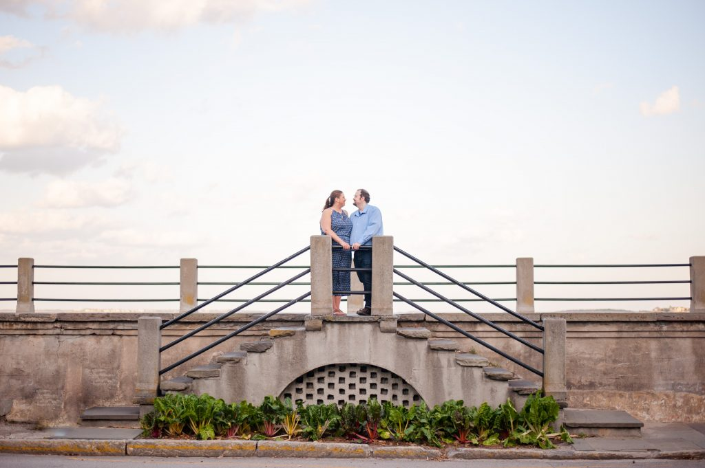 Couple at the Battery in Downtown Charleston, SC