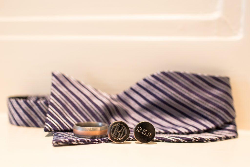 Groom details, groom bowtie and cufflinks