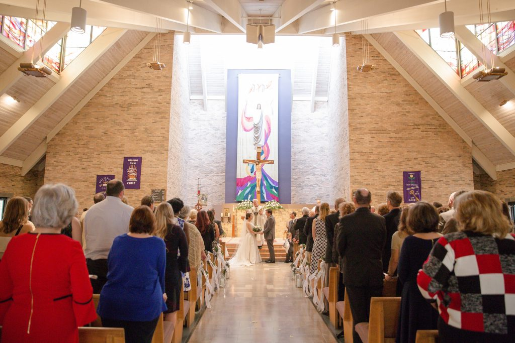 wedding ceremony at Our Lady of the Hills Catholic Church