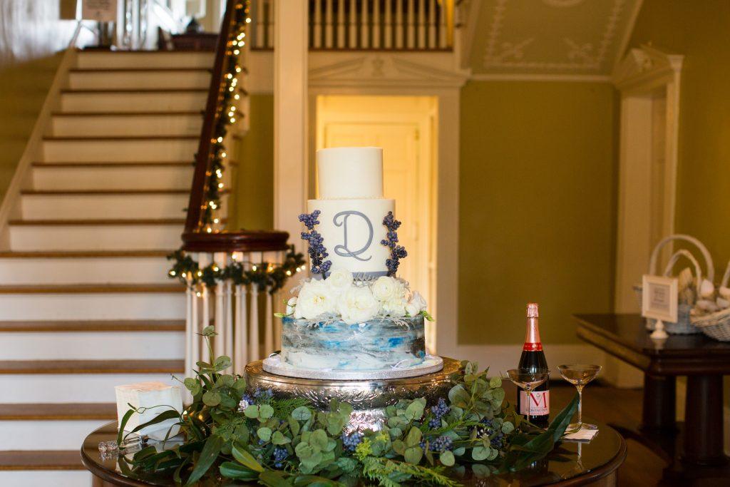 wedding cake inside seibels house in columbia, SC