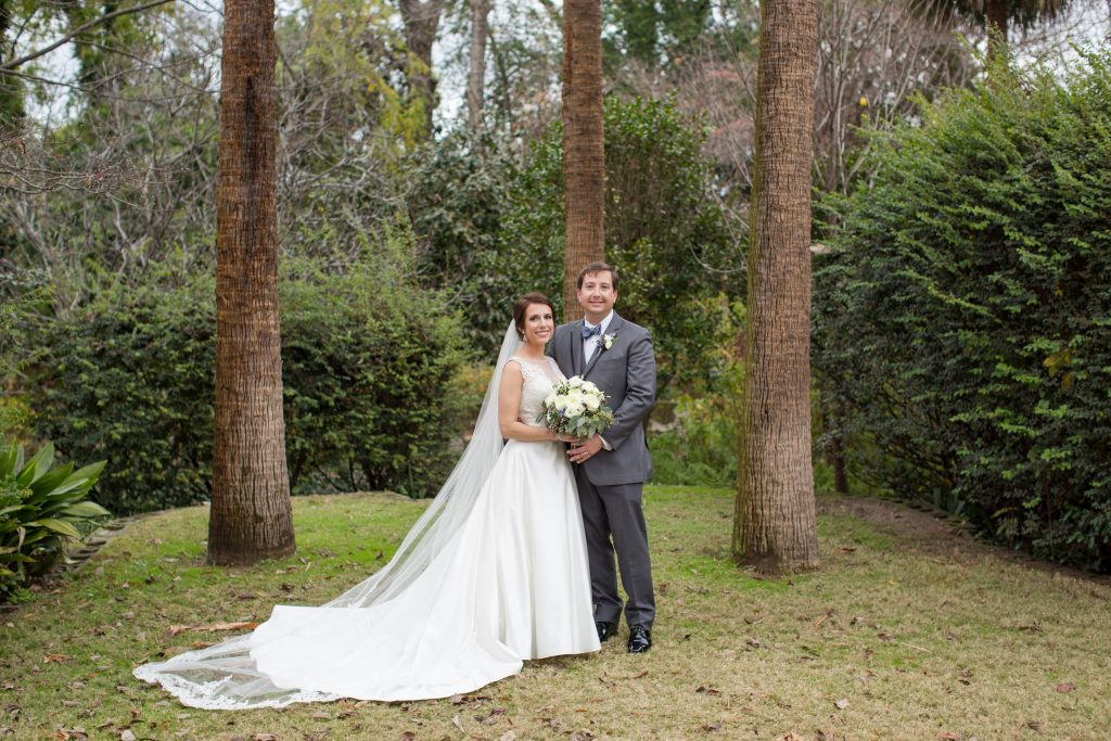 Bride and groom portrait at Seibels House in Columbia, SC