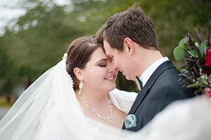 Bride and groom photo at pepper plantation wedding in charleston, sc
