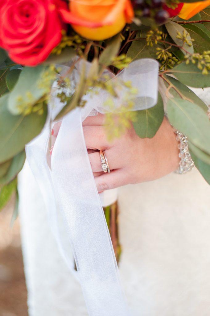 bride's wedding rings