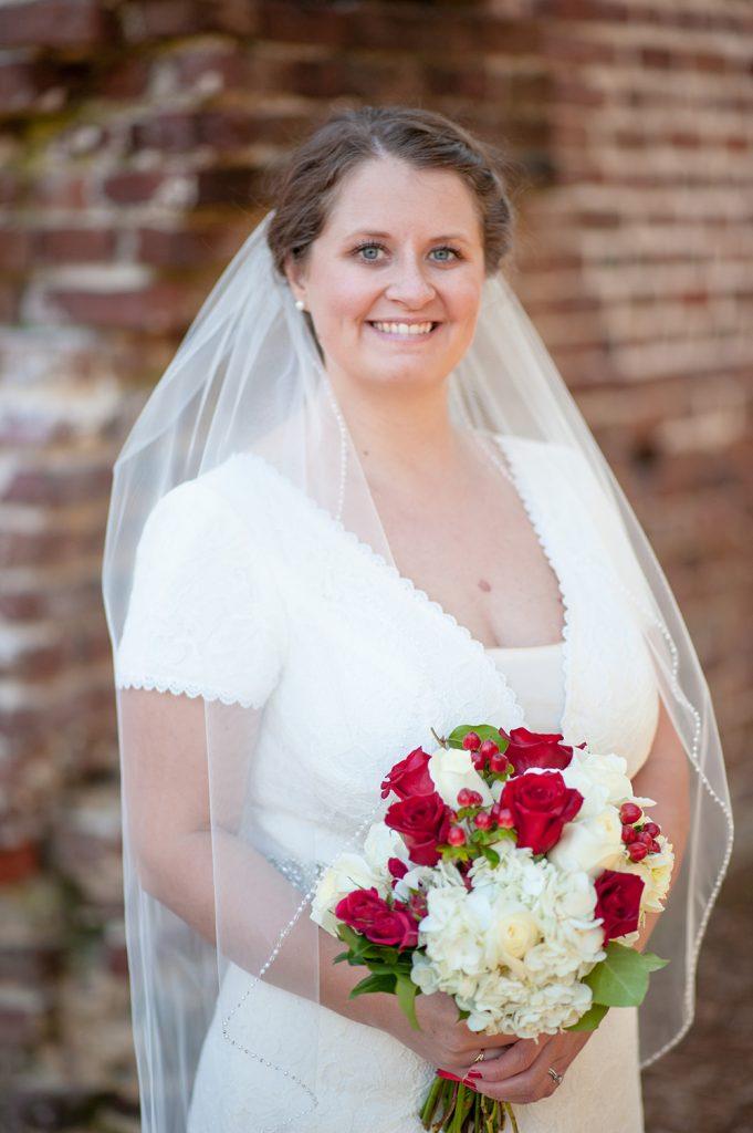 Colonial Dorchester State Historic Site wedding bride photos in Charleston, SC