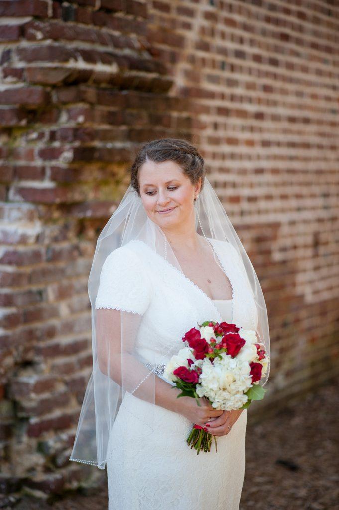 Bride at Colonial Dorchester State Historic Site wedding in Charleston, SC