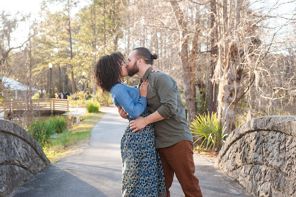 Cypress Gardens anniversary engagement photos