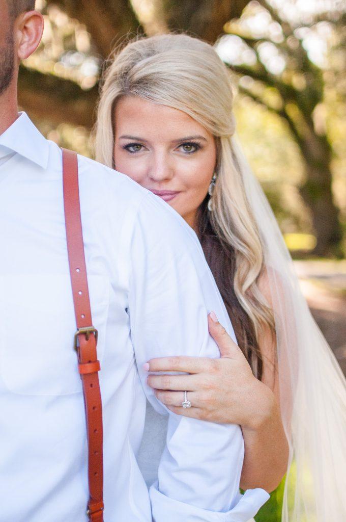 Magnolia Plantation wedding bride and groom photos