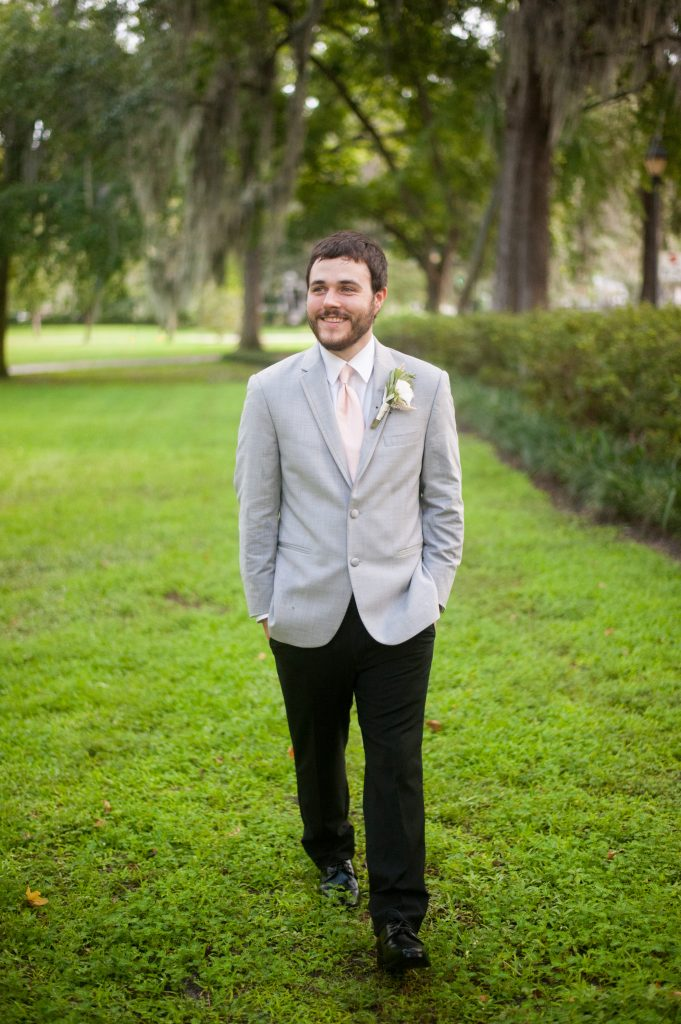 Forsyth Park groom portrait
