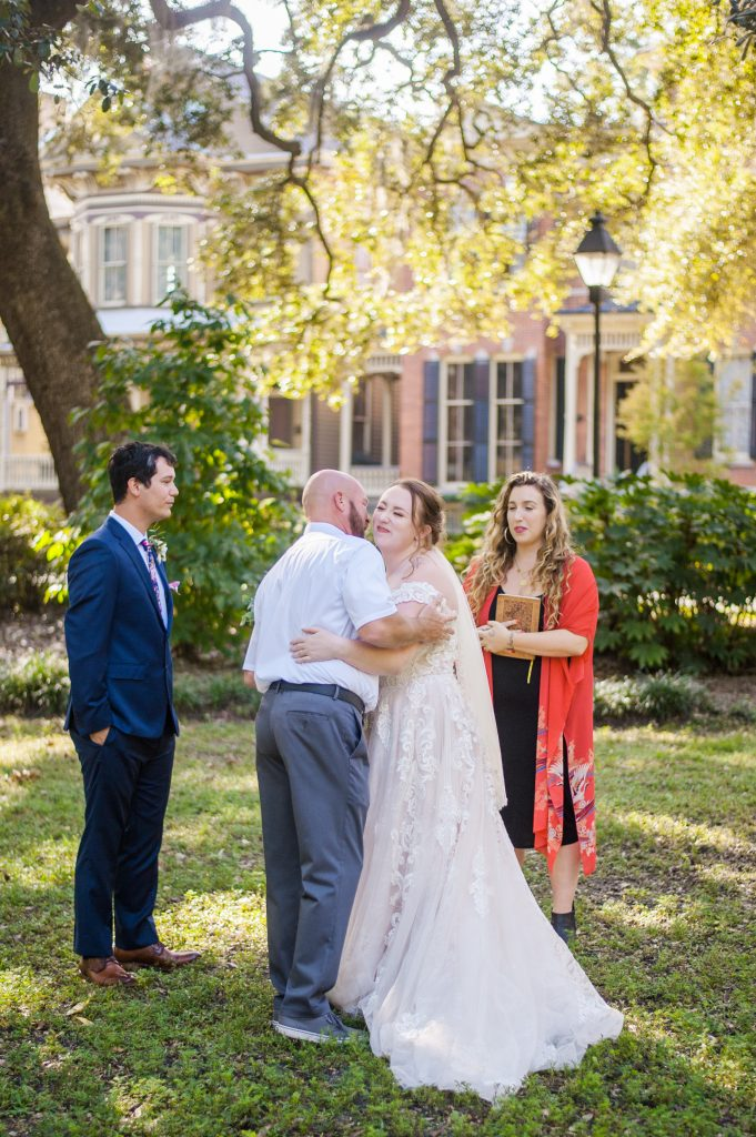 Forsyth Park elopement in Savannah, GA