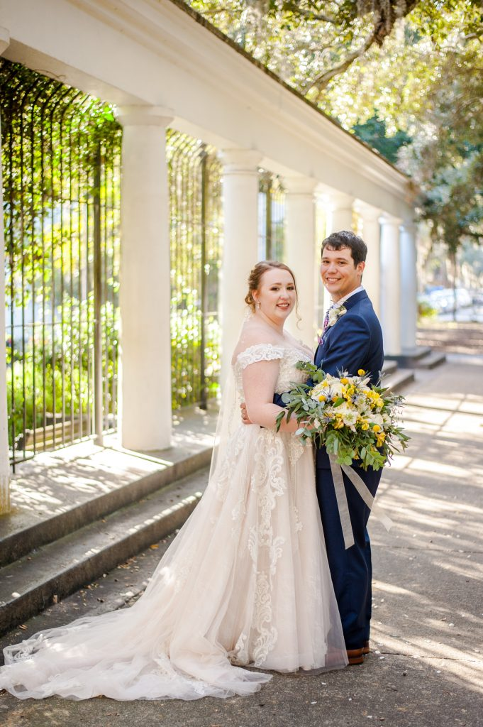 Forsyth Park elopement at Garden of Fragrance in Savannah, GA