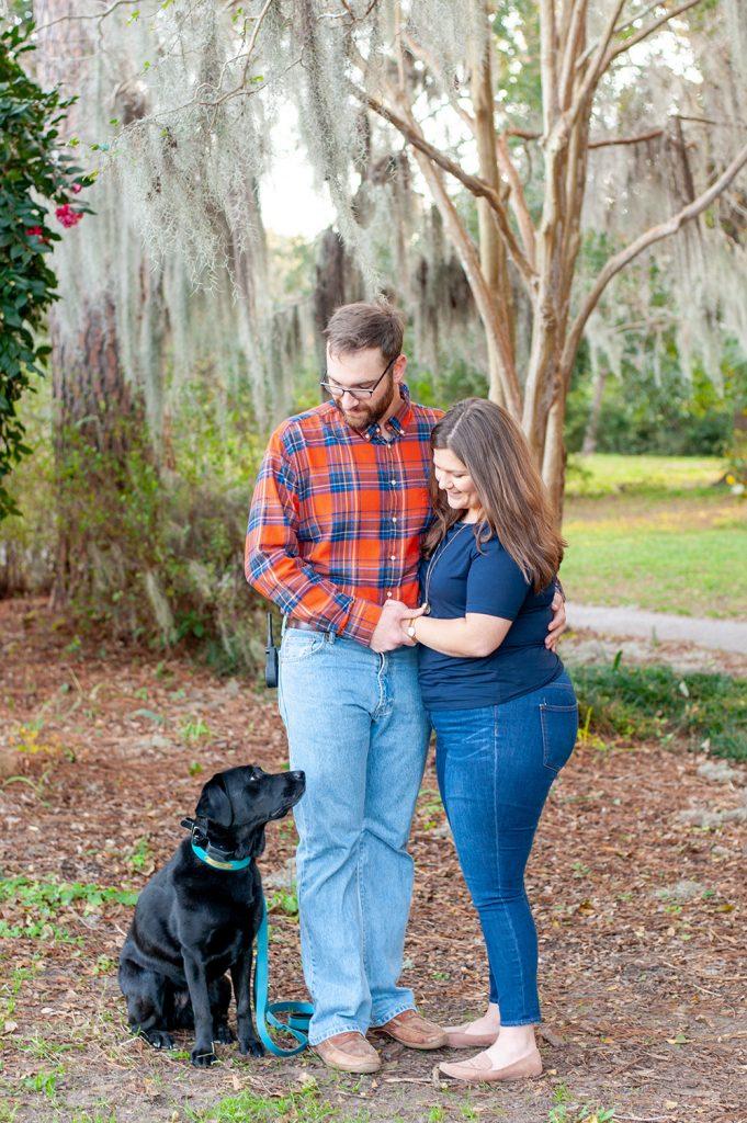 Couples photos at Hampton Park in Charleston, SC