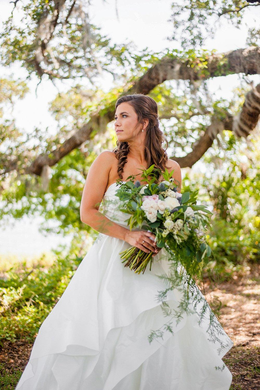 Bridal portrait in Rockville, SC