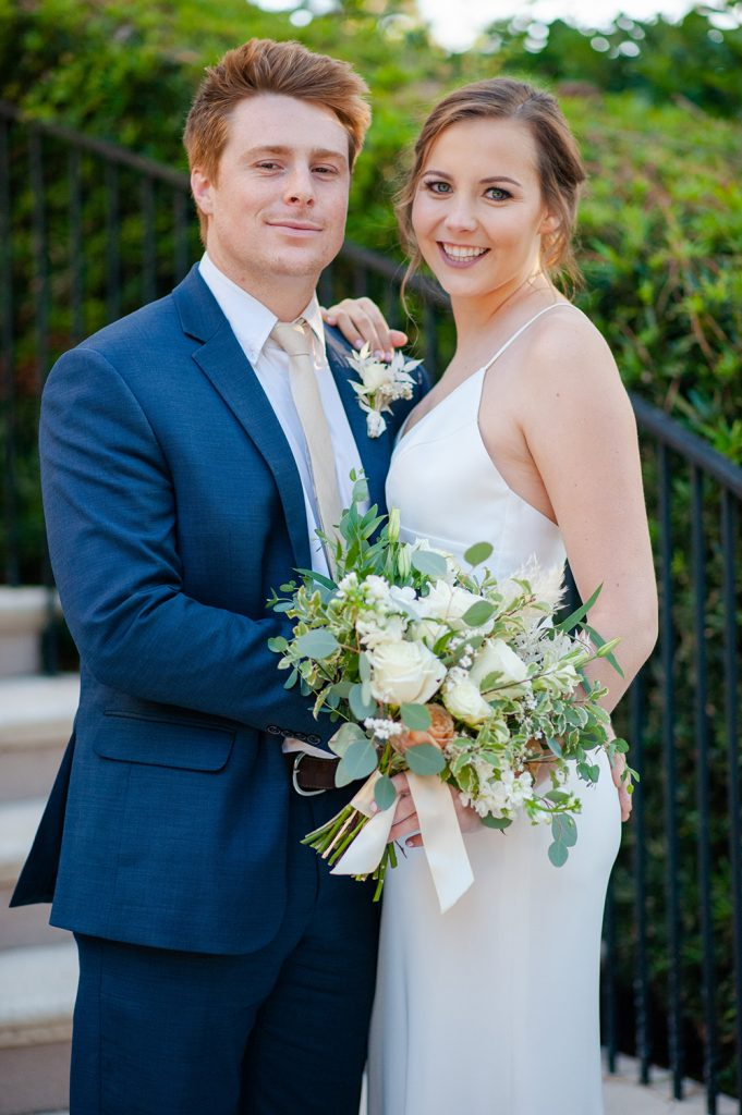 bride and groom portrait at Oldfield River Club in SC