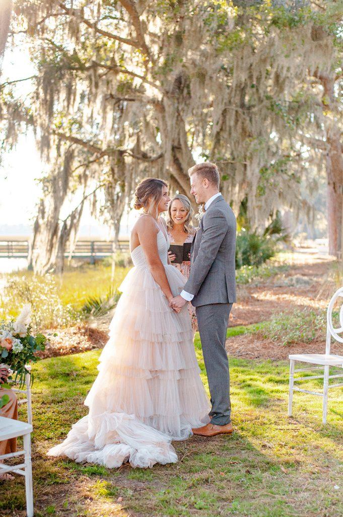 Oldfield River Club wedding ceremony