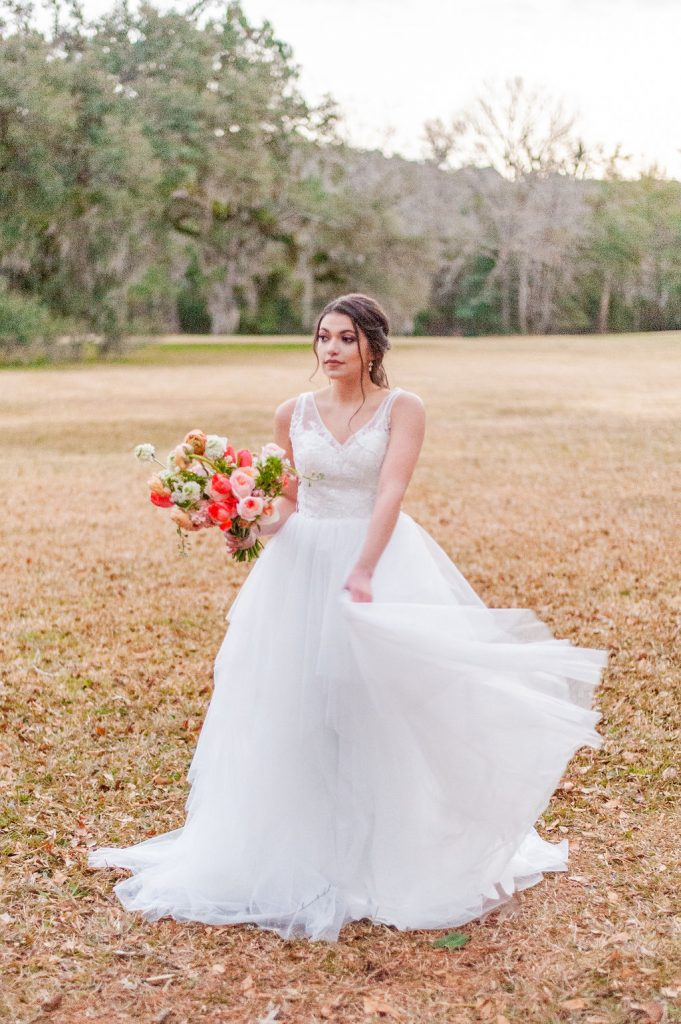 Runnymede Plantation wedding bridal portrait