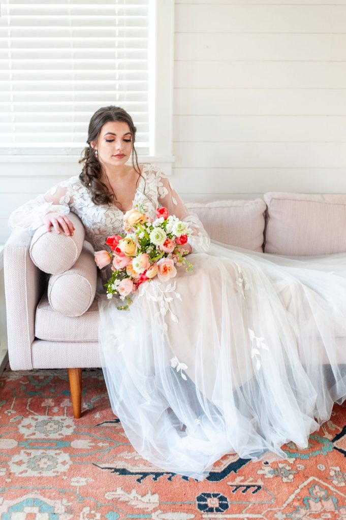 Runnymede Plantation bridal suite portrait