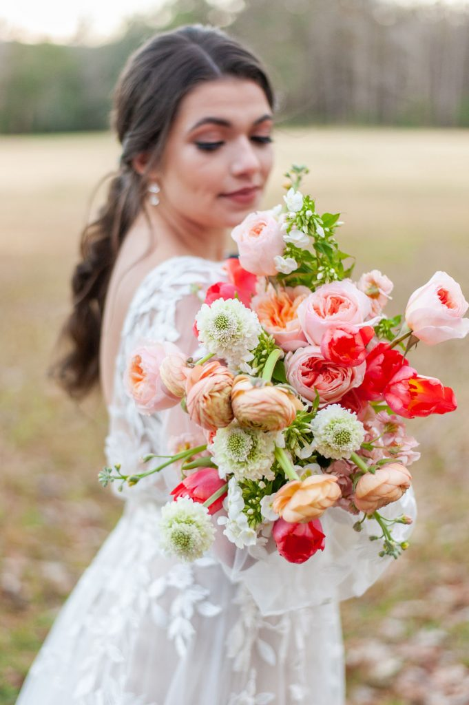 colorful bouquet at Runnymede Plantation