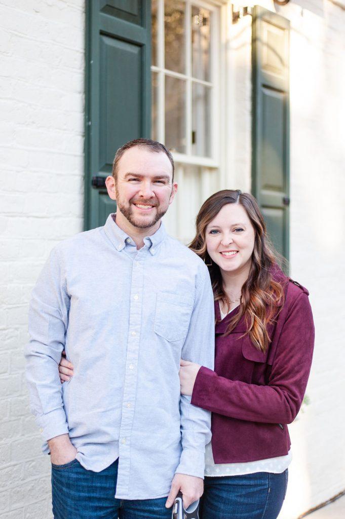 Downtown Charleston couples photos on Meeting Street