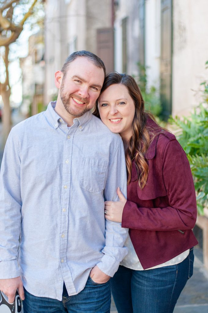 Downtown Charleston couples photos