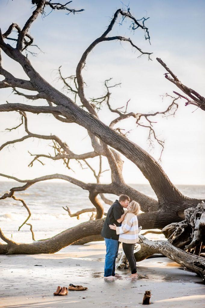 Botany bay engagement photos in Edisto Island
