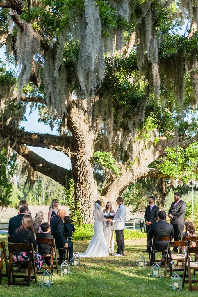 elopement ceremony at A Whitehouse Wedding in Charleston, SC