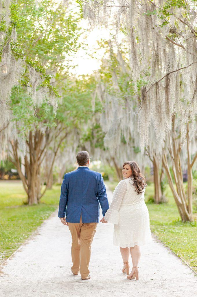 Engagement photos at Hampton Park in Charleston, SC