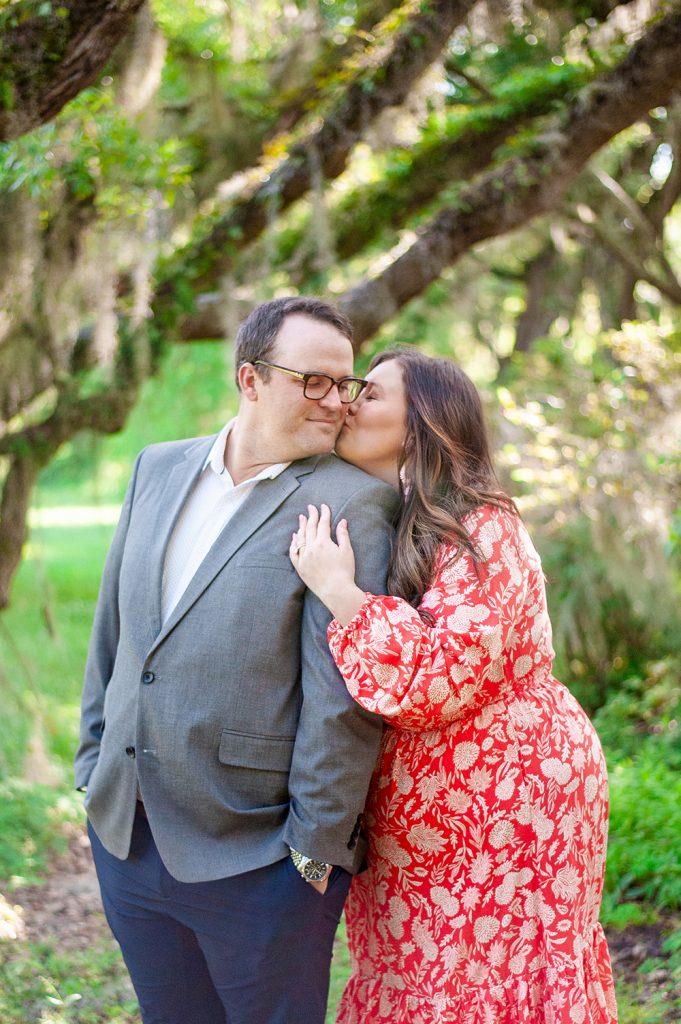 Engagement photos at Magnolia Plantation in Charleston, SC