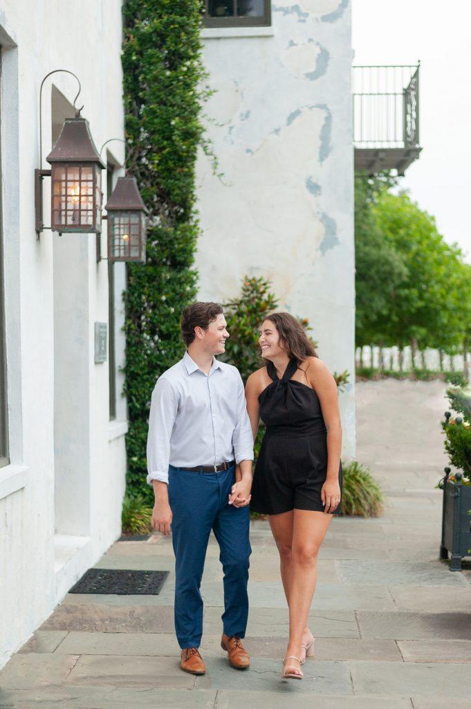 Rainbow Row engagement photos