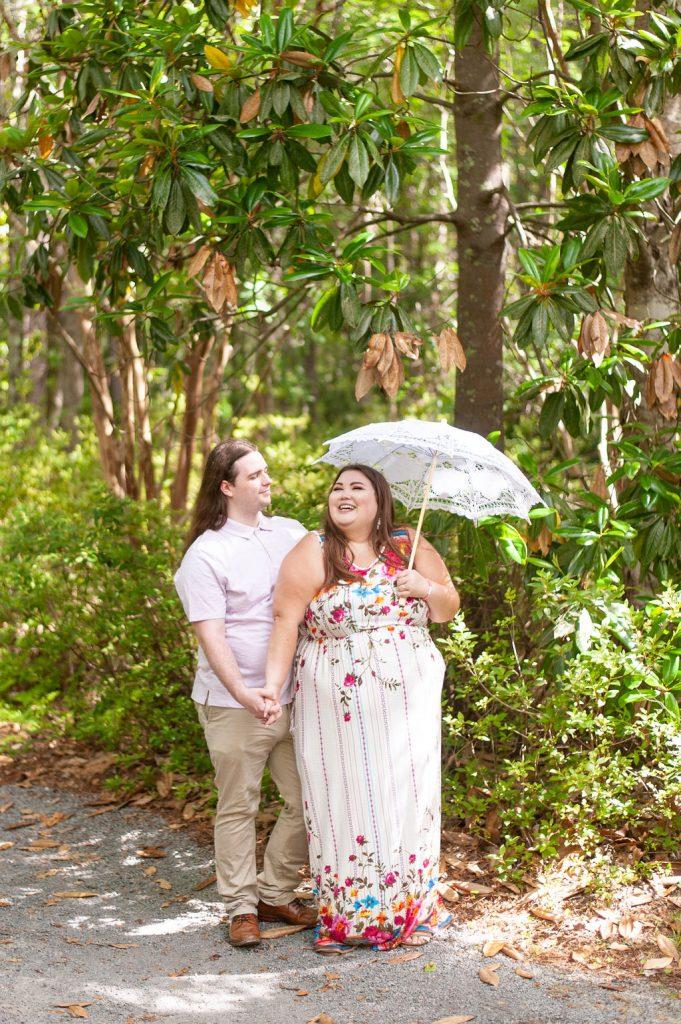 Engagement photos at Cypress Gardens