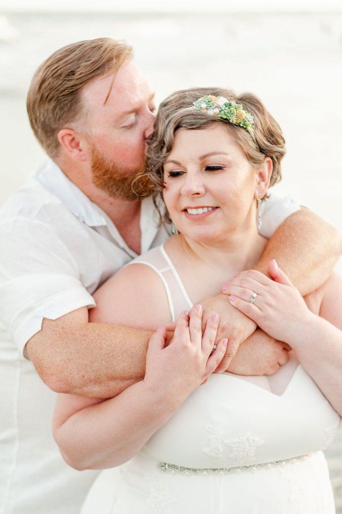 Folly Beach wedding portrait