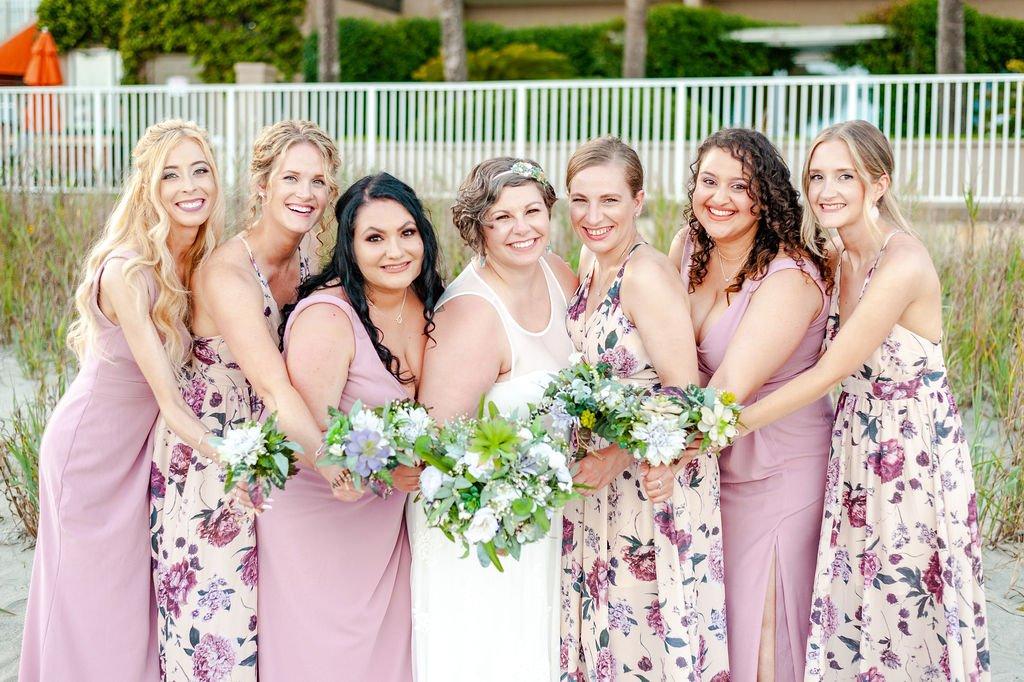 Folly Beach wedding bridesmaids