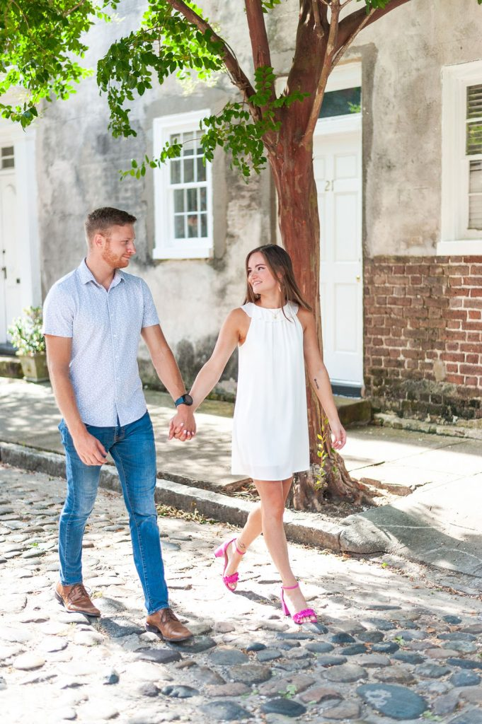 downtown Charleston engagement photos