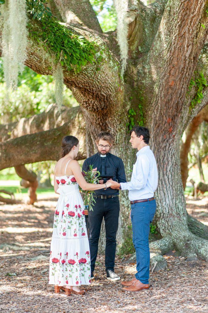 Hampton Park wedding ceremony in Charleston, SC