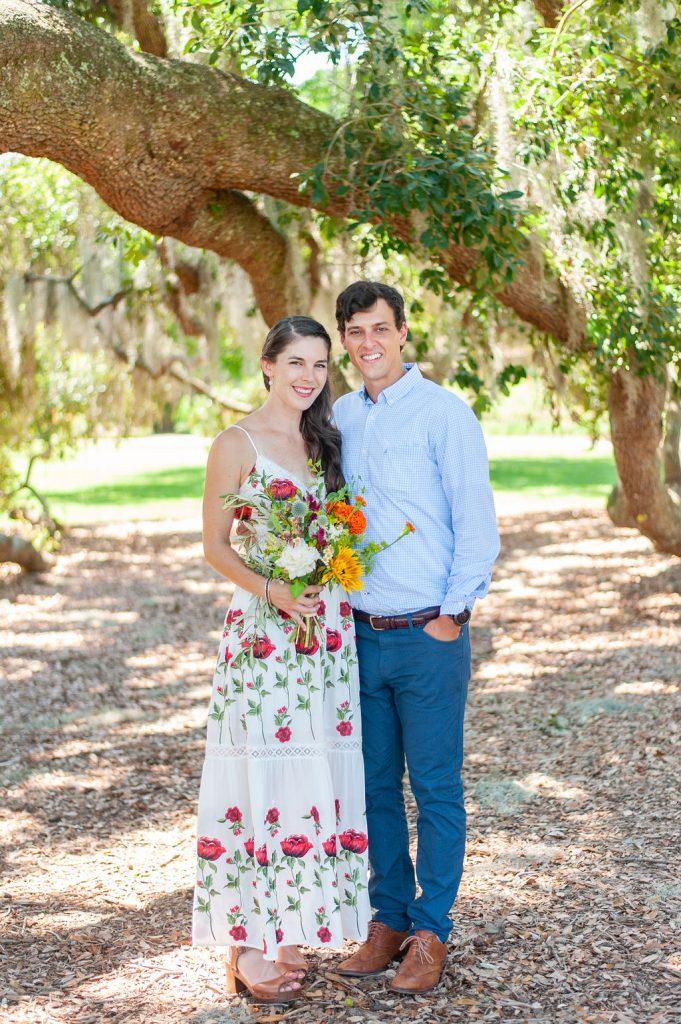 Hampton Park elopement wedding ceremony in Charleston, SC