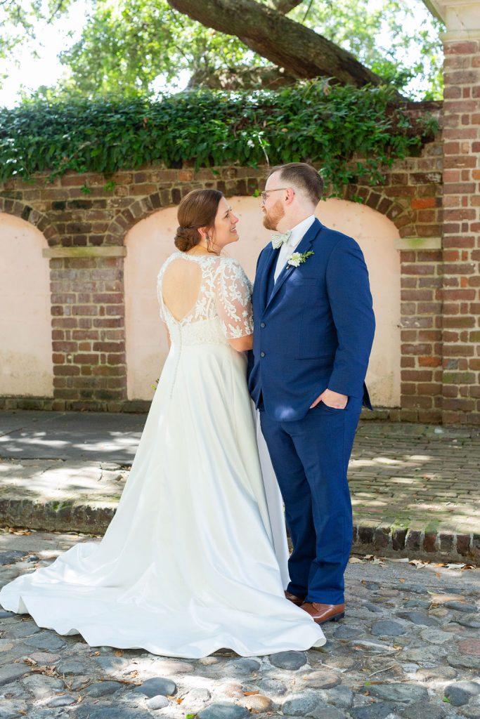 Charleston cobblestone wedding photos