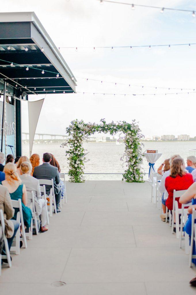South Carolina Aquarium wedding ceremony setup